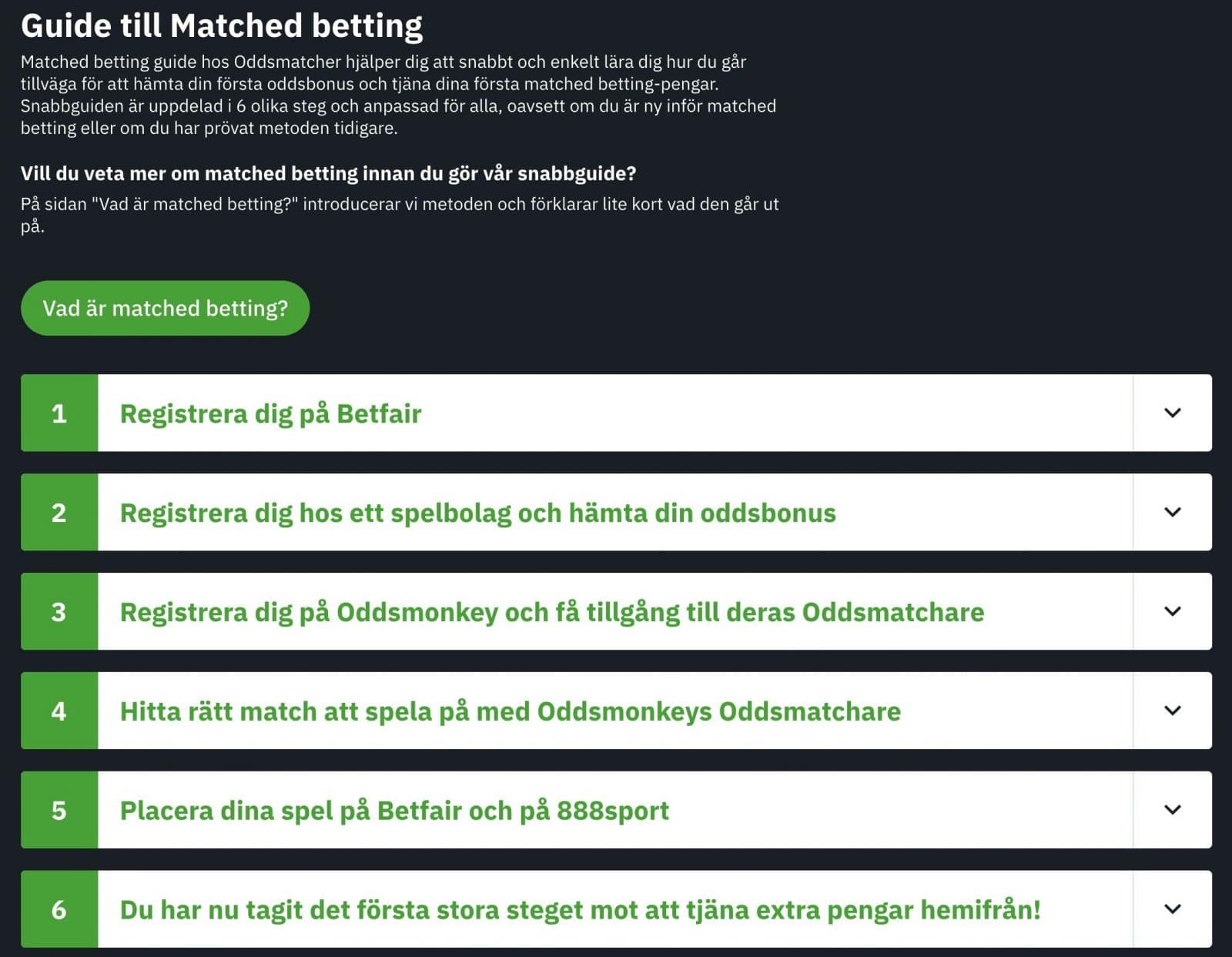 guide till matched betting