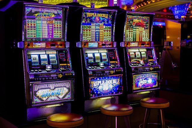 slots i en casinomiljö