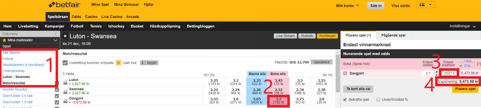 Guide placera spel betfair exchange